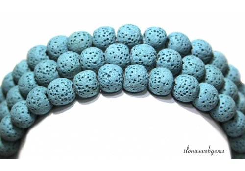 Lava stone beads around 8mm - Copy