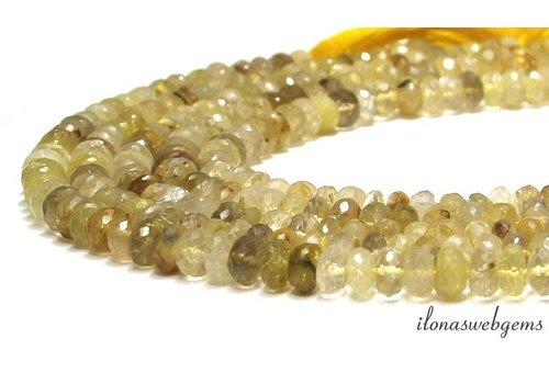 Rutile quartz beads faceted roundel around 8x4-5mm