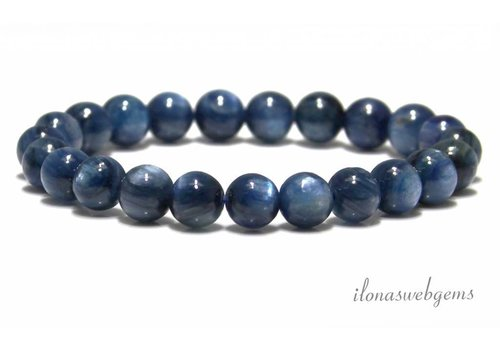 Kyanite beads approx. 8mm AA quality