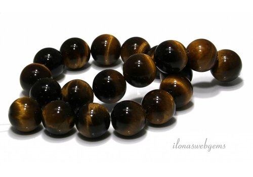 Tiger eye beads around approx. 20mm A quality