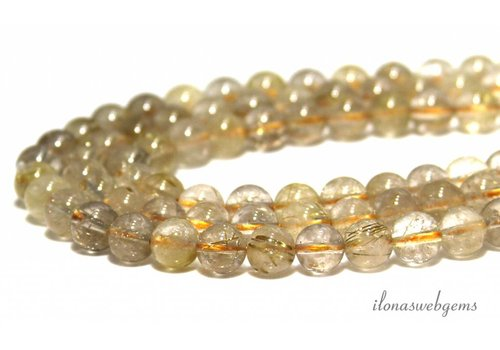 Rutile quartz beads around 8mm