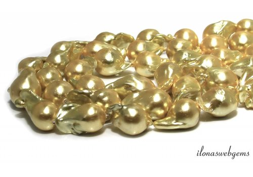 Baroque / Baroque pearls approx. 30x15mm AA quality