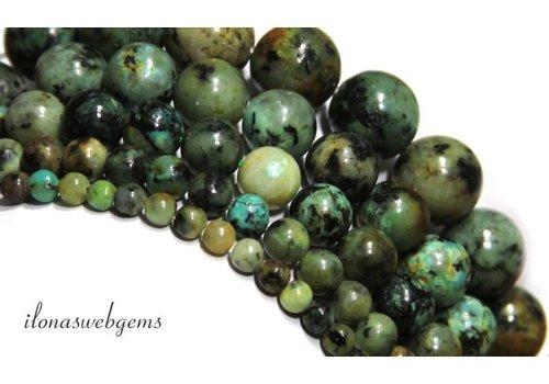 African türkisfarbenen Perlen um etwa 6 mm