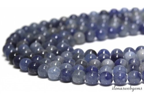 Blue Aventurine beads around 8mm