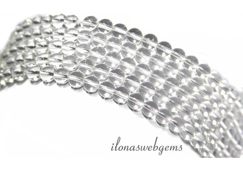 Rock crystal beads around 4mm A quality