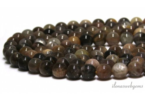 Black sunstone beads around 8mm