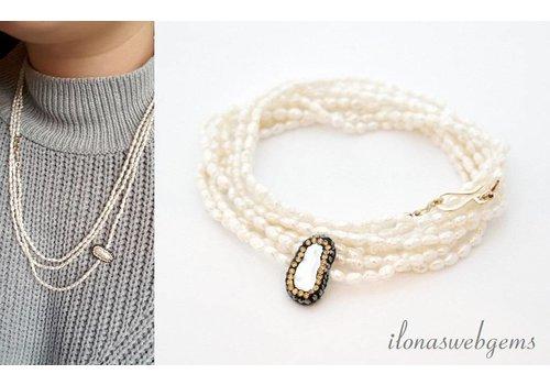 Inspiration Halskette Reis Perlen und Stecker