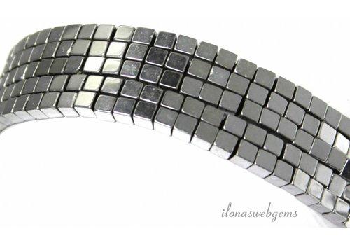 Hematite beads cube approx. 4x4mm