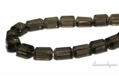 Smoky quartz beads facet about 16x13x9mm