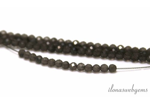 1 cm Gray moonstone beads facet around 3mm AA quality