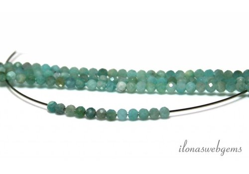 Amazonite beads facet around approx. 3mm AA quality