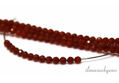1 cm Carnelian beads facet around 3mm AA quality