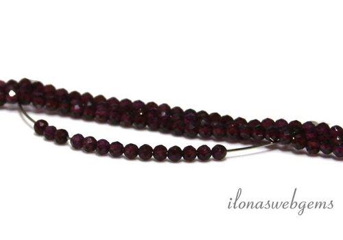 1cm Rhodolite Granat Perlen rund Facette etwa 3 mm AA Qualität