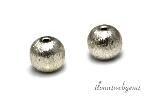 Sterling zilveren kraal rond ca. 8mm