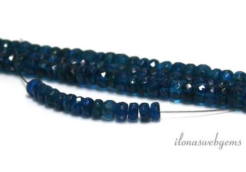 Neon Blue Moonstone kralen facet rondel ca. 5x3mm