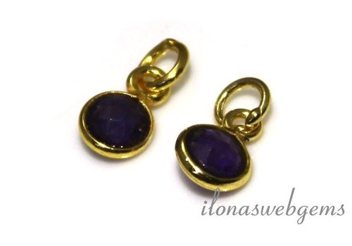 1 Vermeil pendant with Amethyst about 6mm