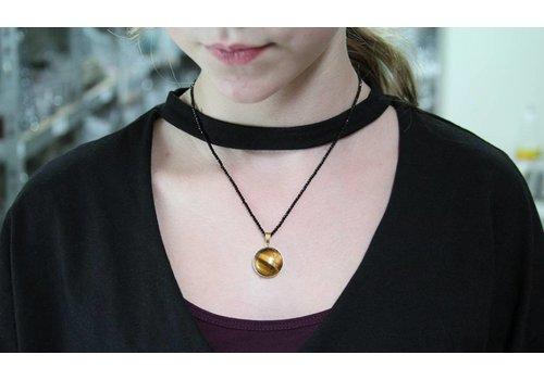 Inspiration Halskette: Herrliche mit Spinell Tigerauge cabochon