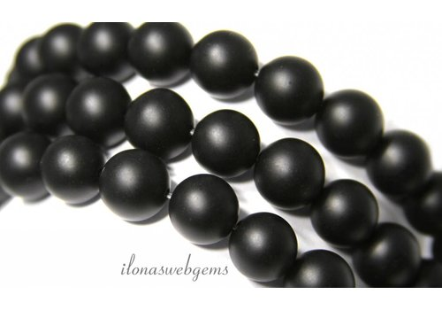 Onyx Perlen mattieren um 6mm