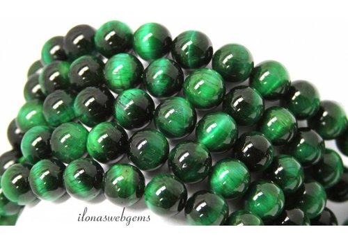 Green Tiger eye beads around 12mm A quality
