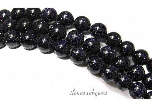 Blue Goldstone beads around 10mm