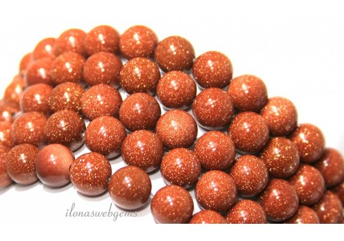 Goldstone beads gold approx. 10mm
