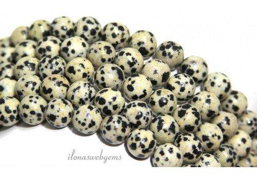 Dalmatian Jasper beads around 9mm
