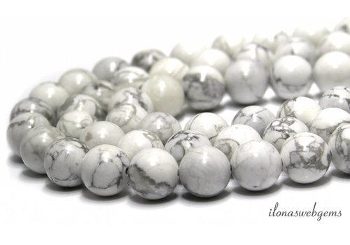 Howlite white beads around approximately 4.5mm