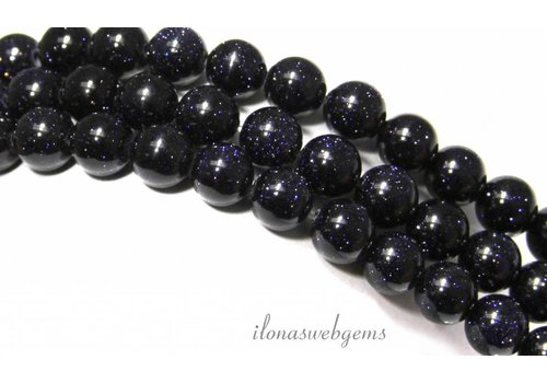 Blue Goldstone beads around 4mm