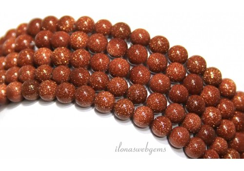 Goldstone beads gold around 6mm