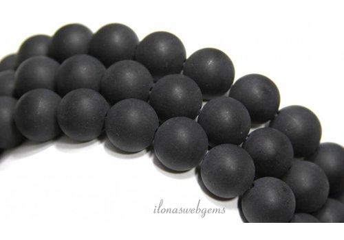 Onyx Perlen rund Matte ca. 14mm