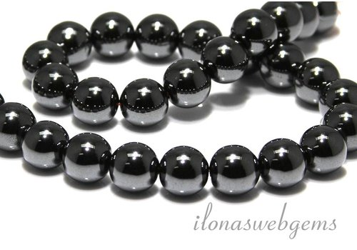 Hematite beads around 14mm A quality
