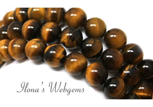 Tiger eye beads around 14mm A quality