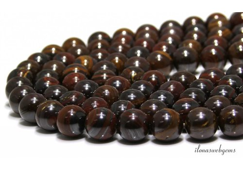 Tiger iron beads around 14mm A quality