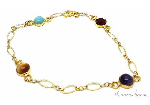 Inspiratie: Gold filled armband met cabochons