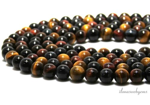Tiger eye beads mix around 8mm