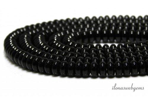 Onyx beads roundels 6.5x4.5mm
