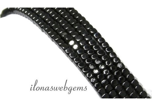 Approx. 195 pcs mini hematite beads / spacer ca.2mm