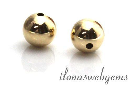 14 carat gold bead 14mm light