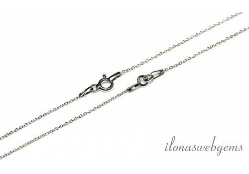 Sterling Silber Halskette 2 Stück 35cm