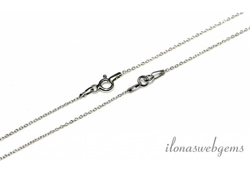 Sterling silver necklace 2-piece 35cm
