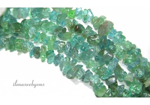 Apatite beads finely split approximately 5mm
