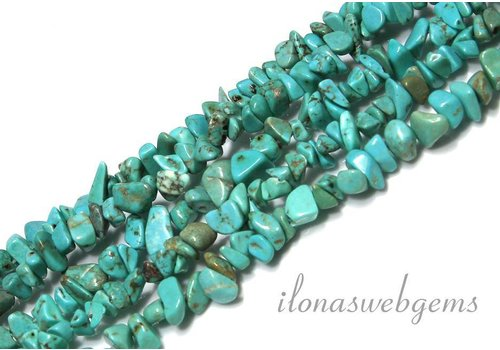 Howlith Perlen gespalten ca. 6-8mm