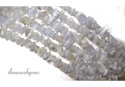 Chalcedoon beads split approximately 7mm