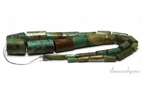 Turquoise Perlen um 4-14x10-24mm