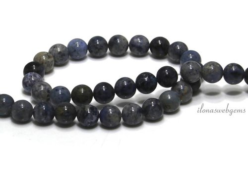 Dumortierite beads around 10mm