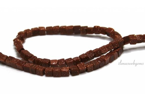Goldstone beads gold around 5mm