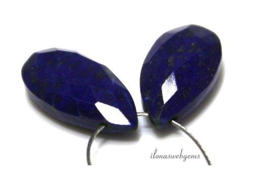 1 pair of Lapis Lazuli facet drop approx. 20x7mm