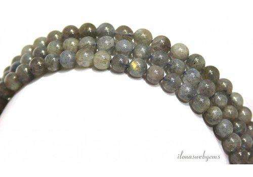 Labradorit Perlen um A-Qualität etwa 6 mm