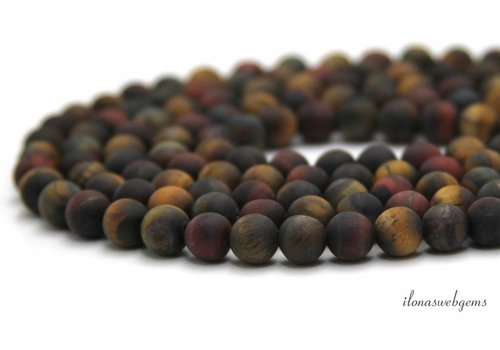Tiger eye beads mix mat around 8mm