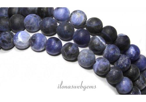 Sodalith Perlen rund um 8mm gefrostet